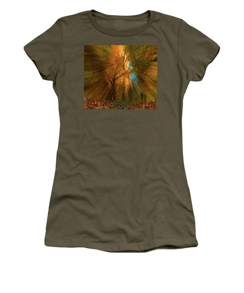 Women's T-Shirt (Athletic Fit) featuring the photograph 4478 by Peter Holme III
