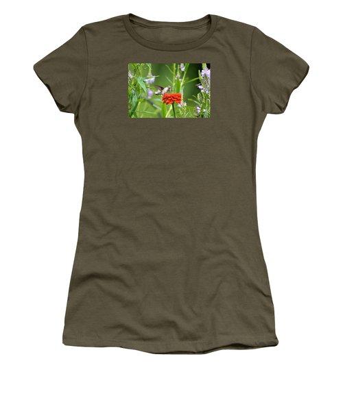 Humming Bird Women's T-Shirt (Junior Cut) by Lila Fisher-Wenzel