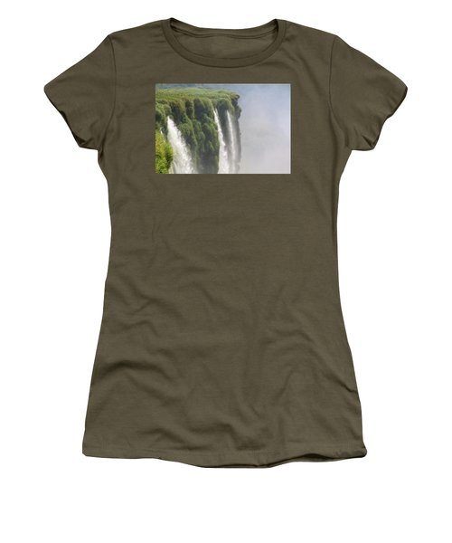 Women's T-Shirt (Athletic Fit) featuring the photograph Iguazu Falls by Silvia Bruno