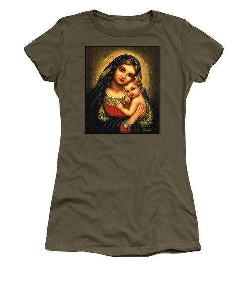 Oval Madonna Women's T-Shirt (Athletic Fit)