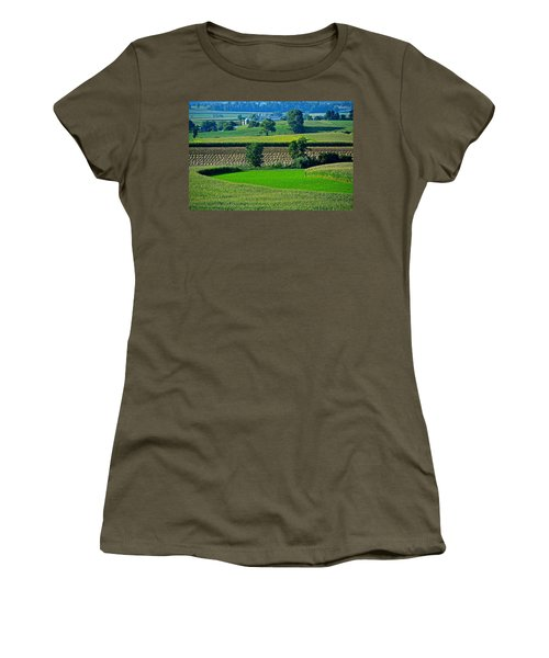 50 Shades Of Green Women's T-Shirt (Athletic Fit)