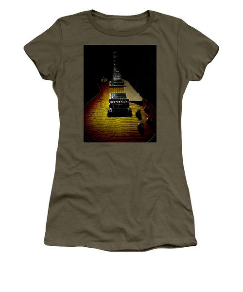 Women's T-Shirt featuring the digital art 59 Reissue Guitar Spotlight Series by Guitar Wacky