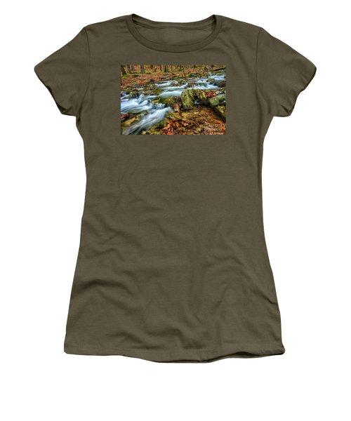 Women's T-Shirt (Junior Cut) featuring the photograph Aldrich Branch Monongahela National Forest by Thomas R Fletcher