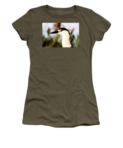 Black Crowned Night Heron Women's T-Shirt
