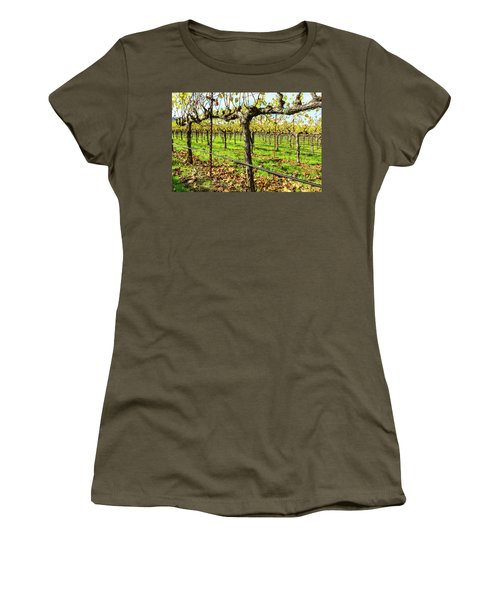 Rows Of Grapevines In Napa Valley California Women's T-Shirt