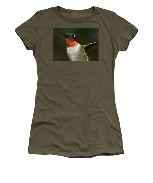 Women's T-Shirt featuring the photograph Ruby-throated Hummingbird by Robert L Jackson