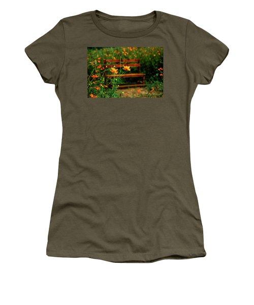 Galsang Flowers In Garden Women's T-Shirt