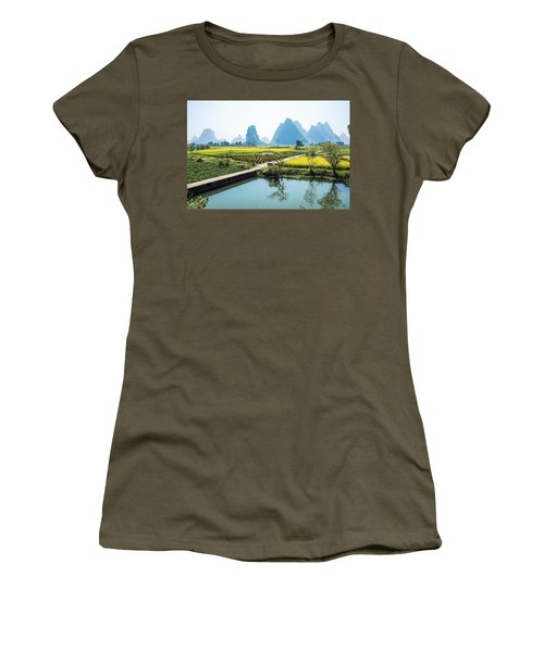 Rice Fields Scenery In Autumn Women's T-Shirt