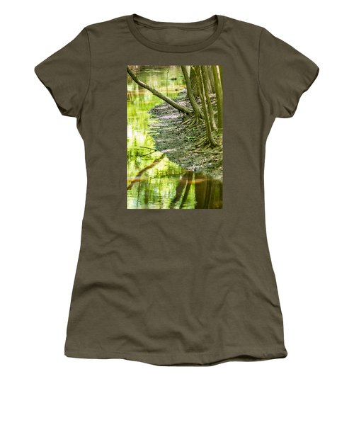 cypress forest and swamp of Congaree National Park in South Caro Women's T-Shirt