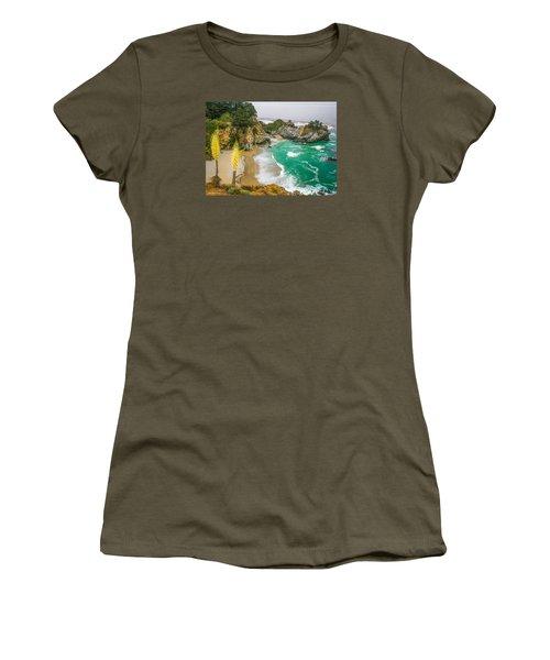 #7842 - Big Sur, California Women's T-Shirt (Athletic Fit)