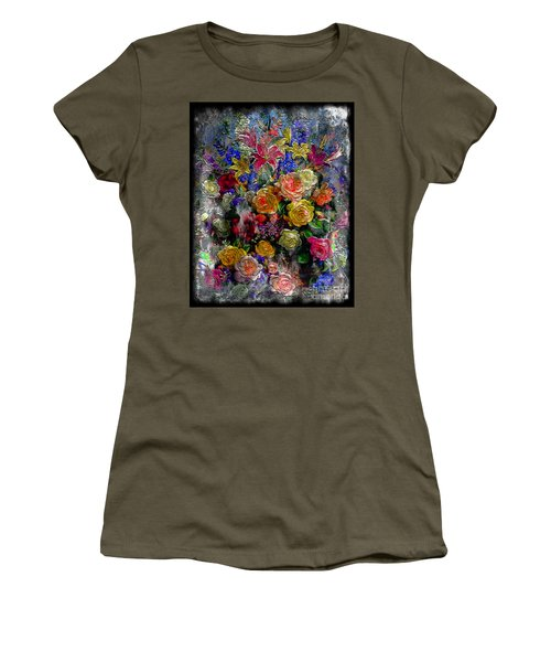 7a Abstract Floral Painting Digital Expressionism Women's T-Shirt