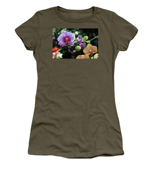 Butterfly Orchid Flowers Women's T-Shirt
