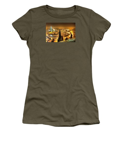 A Beautiful Blonde In Thick Paint Women's T-Shirt (Junior Cut) by Catherine Lott