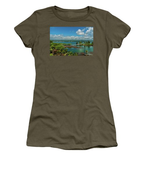 Women's T-Shirt featuring the photograph A Beautiful Day Over Hilo Bay by Christopher Holmes
