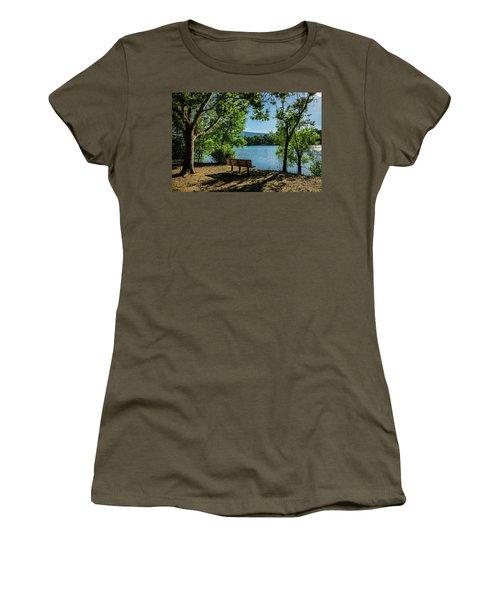 A Bench Overlooking Vasona Lake Women's T-Shirt