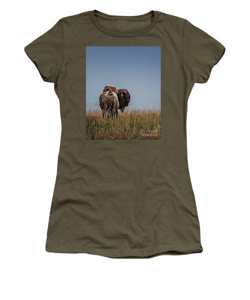 A Bison Interrupted II Women's T-Shirt (Athletic Fit)