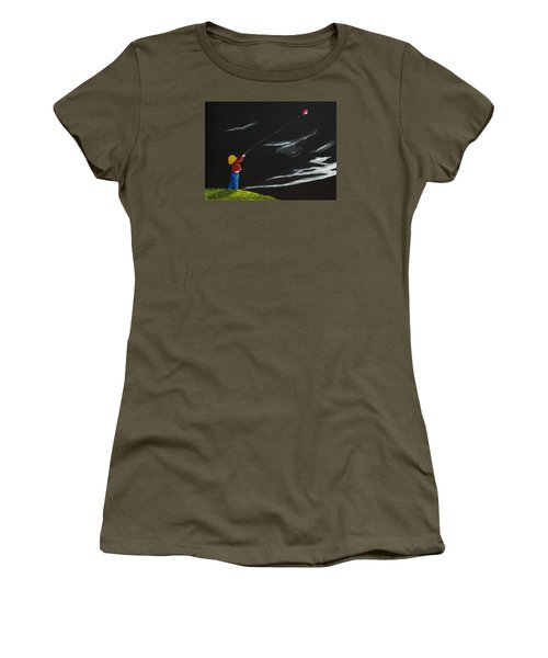 Women's T-Shirt (Junior Cut) featuring the painting A Braw Night For Flight by Scott Wilmot