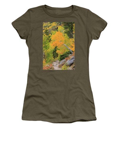 Women's T-Shirt (Junior Cut) featuring the photograph Yellow Drop by David Chandler