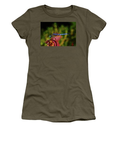Women's T-Shirt (Junior Cut) featuring the photograph A Dragonfly 028 by George Bostian