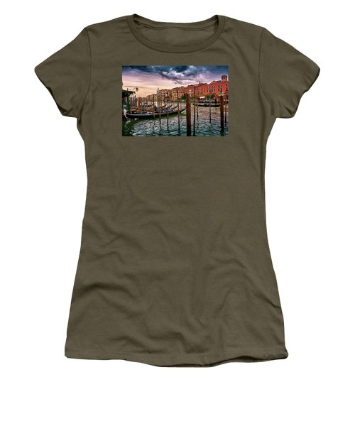 Vintage Buildings And Dramatic Sky, A Dreamlike Seascape In Venice Women's T-Shirt