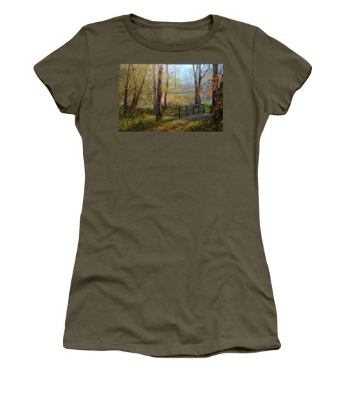 A Fall Day  Women's T-Shirt (Athletic Fit)