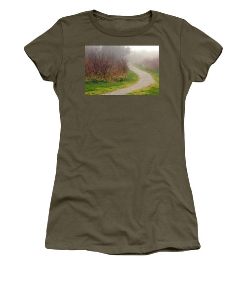 A Foggy Path Women's T-Shirt (Athletic Fit)