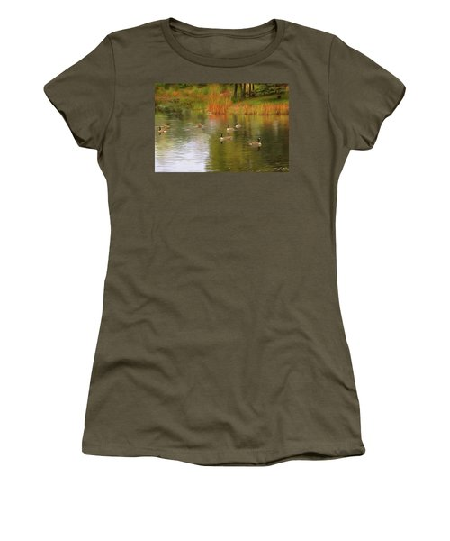 A Gaggle Of Geese Women's T-Shirt (Athletic Fit)