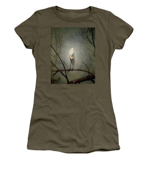 A Great Egret Women's T-Shirt