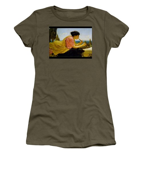A Melody  Women's T-Shirt (Junior Cut) by John William Godward