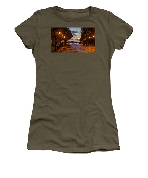 A Night Out On The Town Women's T-Shirt (Junior Cut) by Anthony Fishburne
