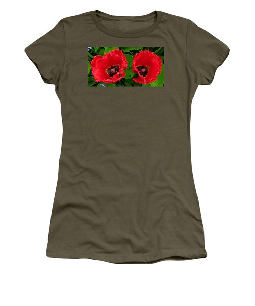 A Pair Of Poppies Women's T-Shirt (Junior Cut) by John Topman