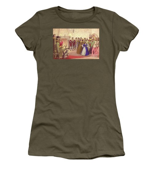 A Party Followed The Arrival Of Catherine Of Aragon In England To Be Married  Women's T-Shirt