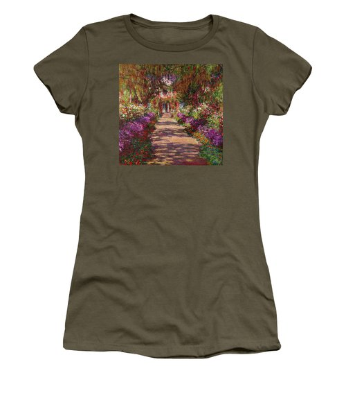 A Pathway In Monets Garden Giverny Women's T-Shirt (Athletic Fit)