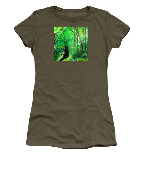 A Purrfect Day Women's T-Shirt (Junior Cut) by Seth Weaver