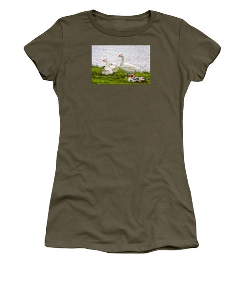 Women's T-Shirt (Junior Cut) featuring the photograph A Quiet Moment by Joan Bertucci