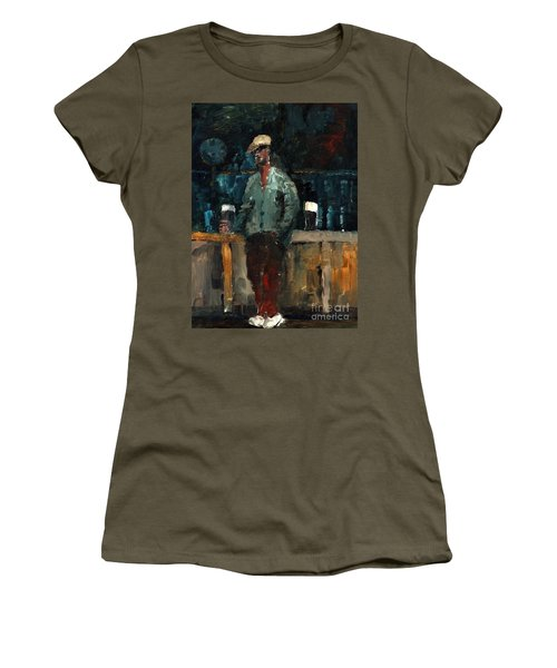 F 772  Holy Hour A Pint And A Spare. Women's T-Shirt (Athletic Fit)