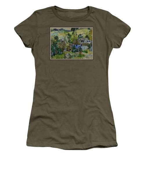 Women's T-Shirt (Junior Cut) featuring the painting A Replica Of A Painting  Of Van Gogh by Pemaro