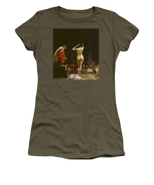 A Roman Slave Market, Jean Leon Gerome Women's T-Shirt (Athletic Fit)