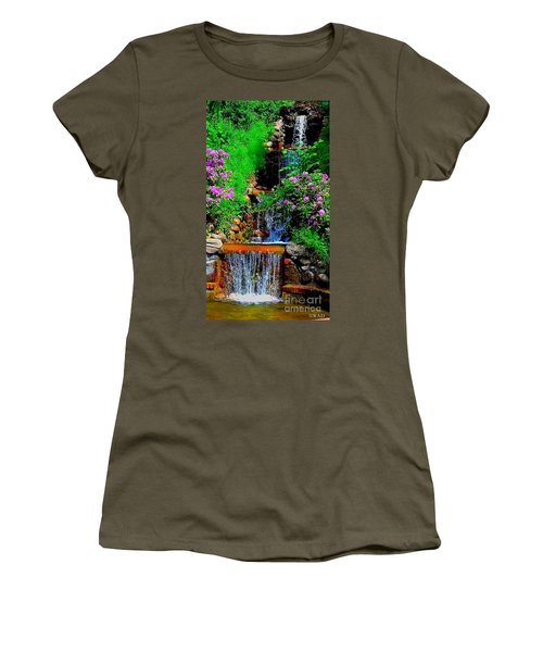 A Small Waterfall In Hbg Sweden Women's T-Shirt