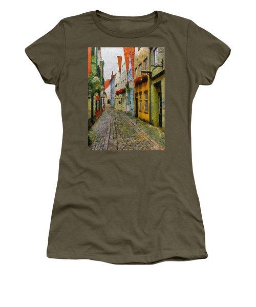 A Stroll Through The Street Women's T-Shirt