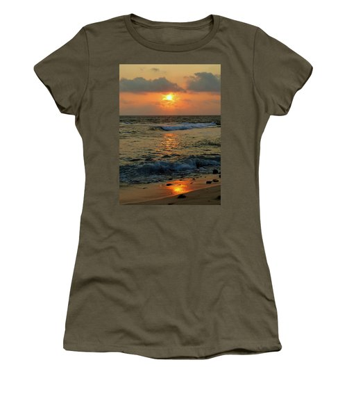 Women's T-Shirt (Junior Cut) featuring the photograph A Sunset To Remember by Lori Seaman