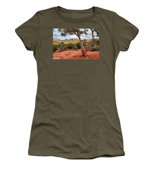 Women's T-Shirt (Junior Cut) featuring the photograph A Tree In Sedona by James Eddy