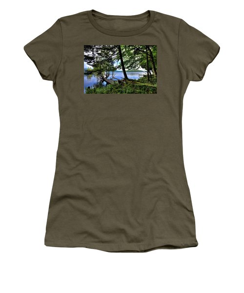 Women's T-Shirt (Athletic Fit) featuring the photograph A View From Covewood by David Patterson
