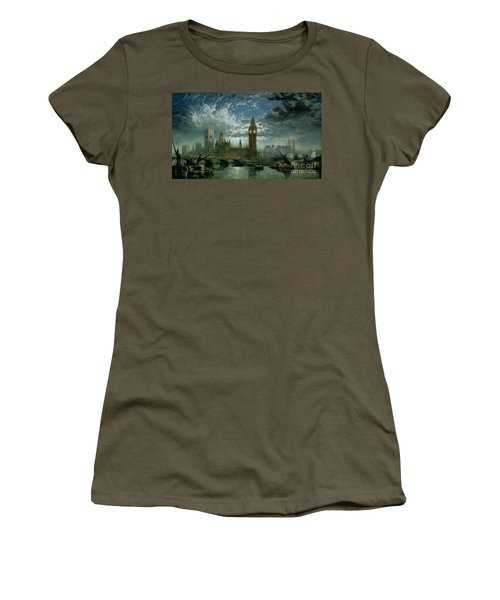 A View Of Westminster Abbey And The Houses Of Parliament Women's T-Shirt