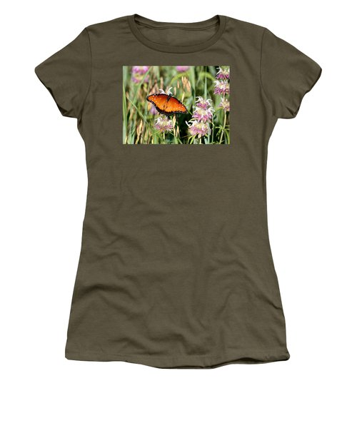 Women's T-Shirt (Athletic Fit) featuring the photograph A Visit From The Queen by Sheila Brown