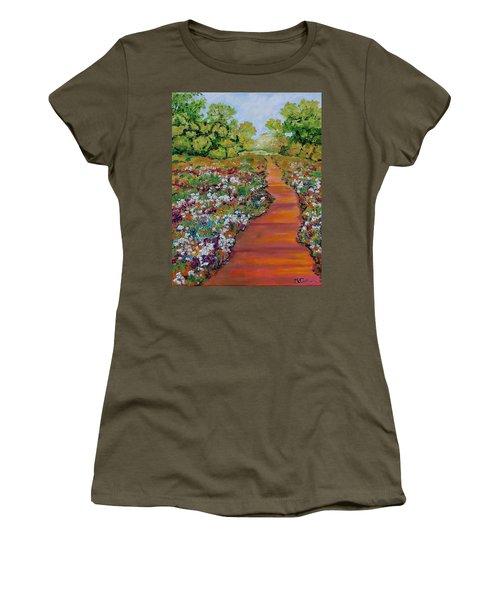A Walk In The Park Women's T-Shirt (Junior Cut) by Mike Caitham