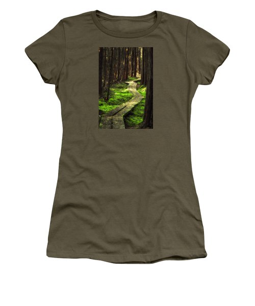 Women's T-Shirt (Junior Cut) featuring the photograph A Walk Through The Bog by Robert Clifford