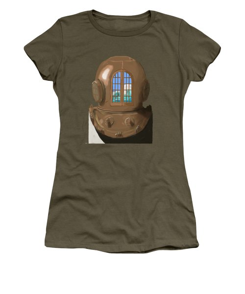A Wave Inside The Helmet Women's T-Shirt (Junior Cut) by Keshava Shukla