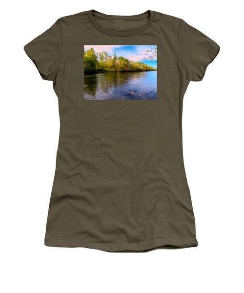 A Wide Scenic View Of Shetucket River. Women's T-Shirt (Athletic Fit)