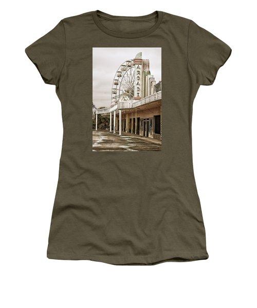 Abandoned Arcade And Ferris Wheel Women's T-Shirt